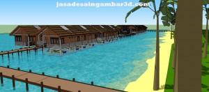 Jasa Desain 3d Kampung Nelayan
